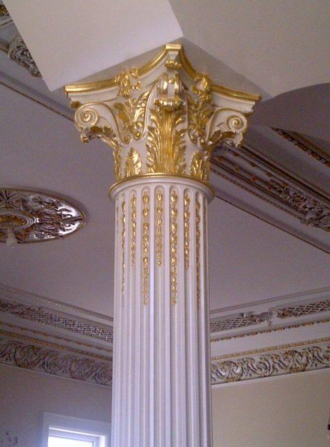 галерея наши работы Гипсовые колонны в интерьере