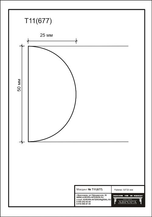 Гипсовая лепнина Аврора молдинг Т11 (677)