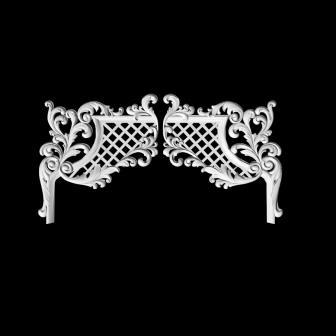 гипсовый декор Д75-1 гипсовая лепнина Аврора
