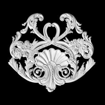 Гипсовый декор Д95. Гипсовая лепнина Аврора (Краснодар)