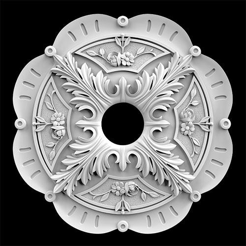 Гипсовая потолочная розетка АП62 Гипсовая лепнина Аврора (Краснодар)