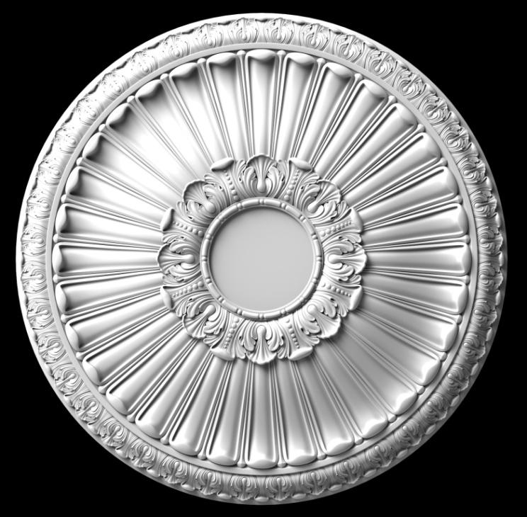 гипсовая потолочная розетка номер АП65 диаметр 80 см