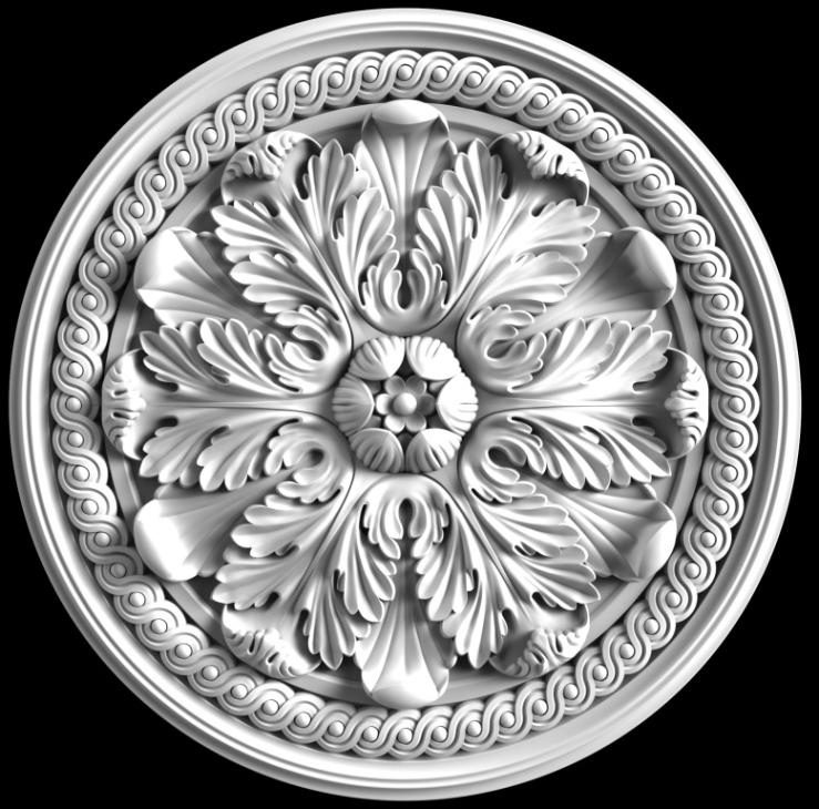 гипсовая потолочная розетка номер АП66 диаметр 60 см