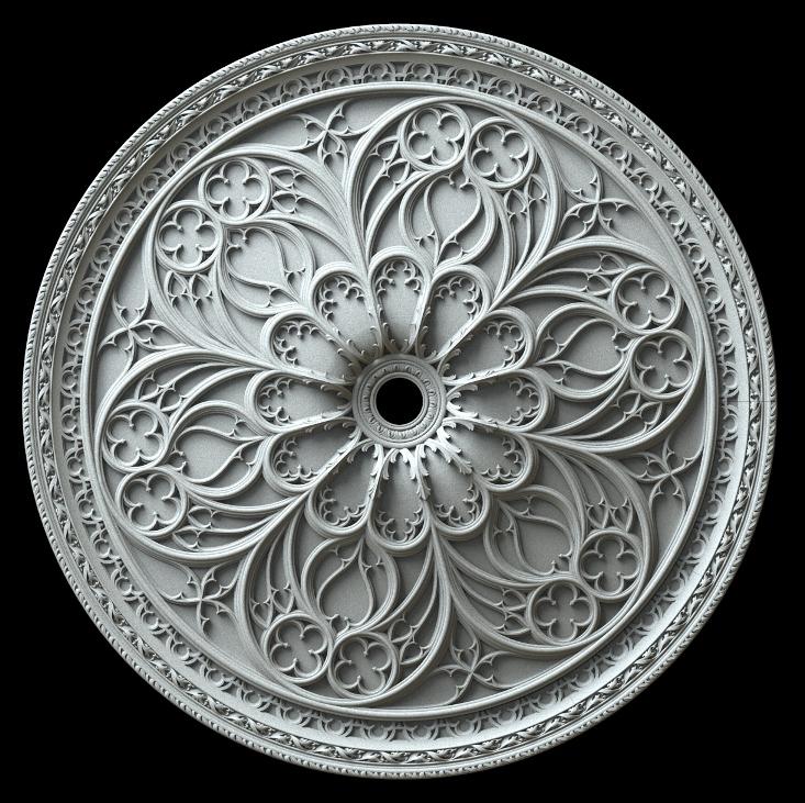 гипсовая потолочная розетка номер АП73 диаметр 90 см