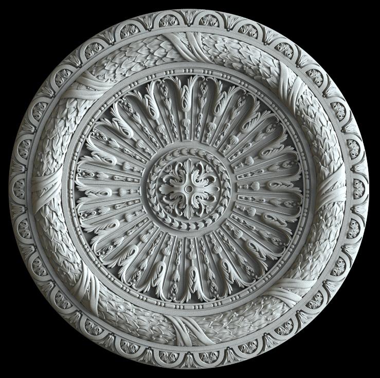 гипсовая потолочная розетка номер АП74 диаметр 90 см