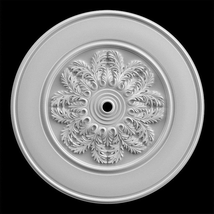 гипсовая потолочная розетка номер АП80 диаметр 160см