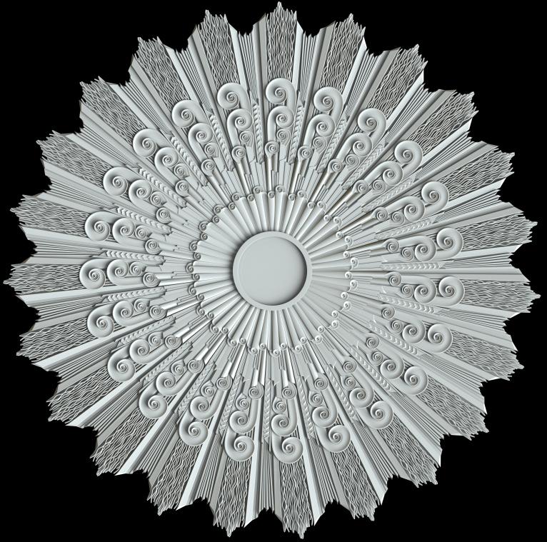 гипсовая розетка АП81 гипсовая лепнина Аврора