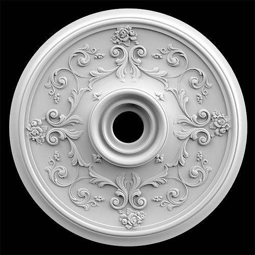 Гипсовая потолочная розетка АП42 Гипсовая лепнина Аврора (Краснодар)