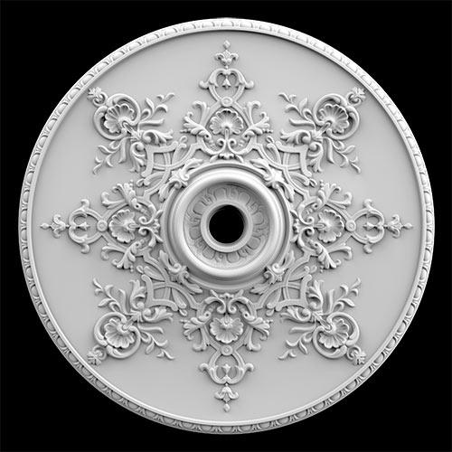 Гипсовая потолочная розетка АП48 Гипсовая лепнина Аврора (Краснодар)