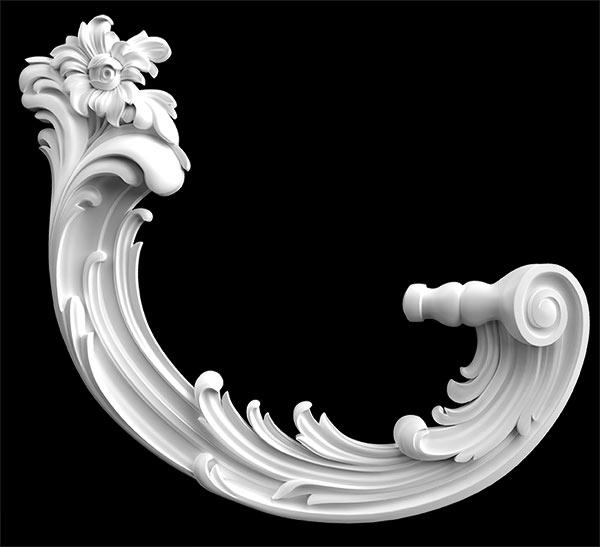 Гипсовый декор Д108. Гипсовая лепнина Аврора (Краснодар)