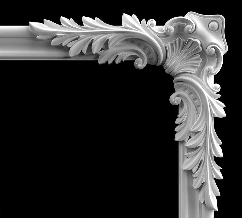 Гипсовый декор Д174 Гипсовая лепнина Аврора (Краснодар)