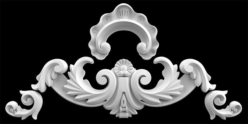 Гипсовый декор Д34Б . Гипсовая лепнина Аврора (Краснодар)