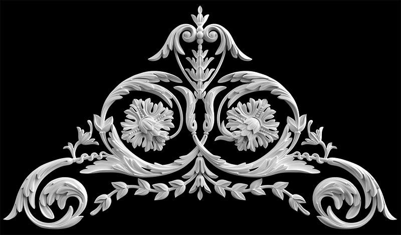 Гипсовый декор Д87. Гипсовая лепнина Аврора (Краснодар)