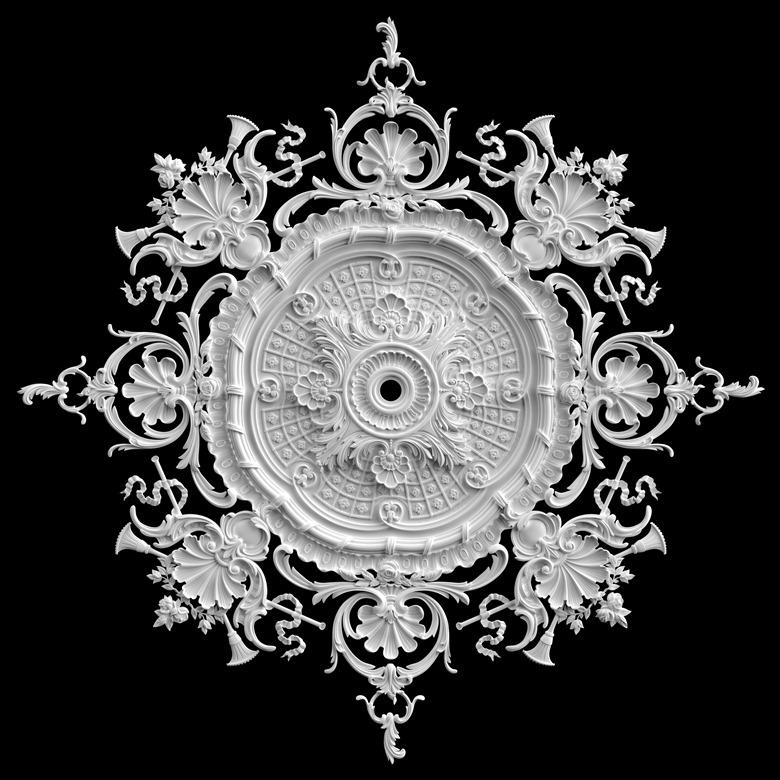 гипсовые потолочные розетки - гипсовая потолочная розетка № РВ5 диаметр 154 см