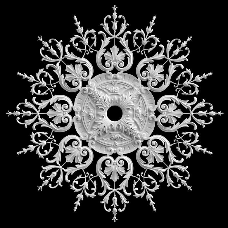 гипсовые потолочные розетки - гипсовая потолочная розетка № РВ6 диаметр 130 см