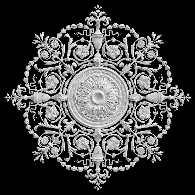 гипсовые потолочные розетки - гипсовая потолочная розетка № РВ8 диаметр 191 см