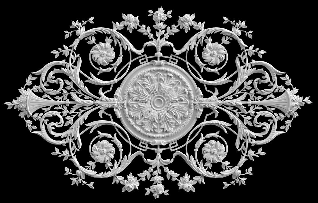 гипсовые потолочные розетки - гипсовая потолочная розетка № РВ13 210 на 131 см