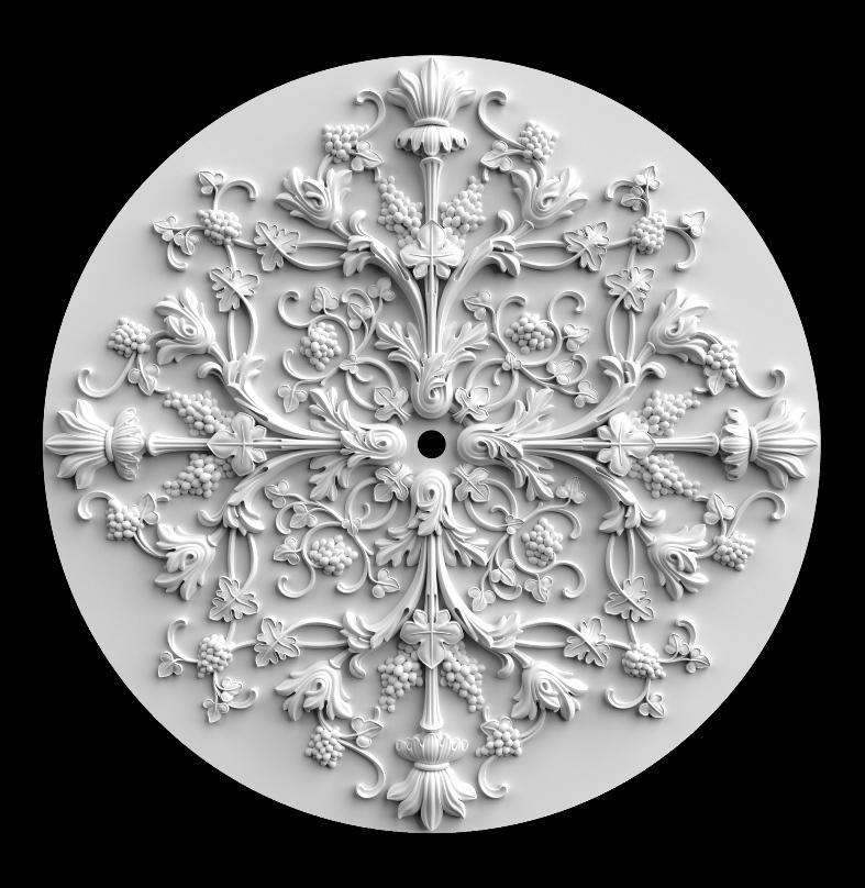 гипсовые потолочные розетки - гипсовая потолочная розетка № РВ15 диаметр 94 см