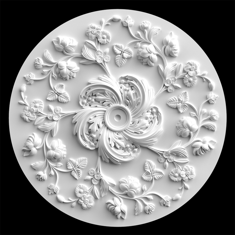 гипсовые потолочные розетки - гипсовая потолочная розетка № РВ16 диаметр 89 см