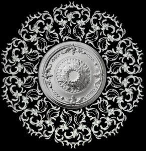 гипсовые потолочные розетки - гипсовая потолочная розетка №2 диаметр 170 см