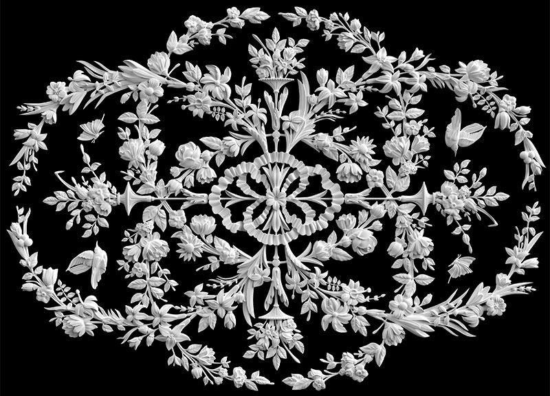гипсовые потолочные розетки - гипсовая потолочная розетка № РВ9 145*110 см