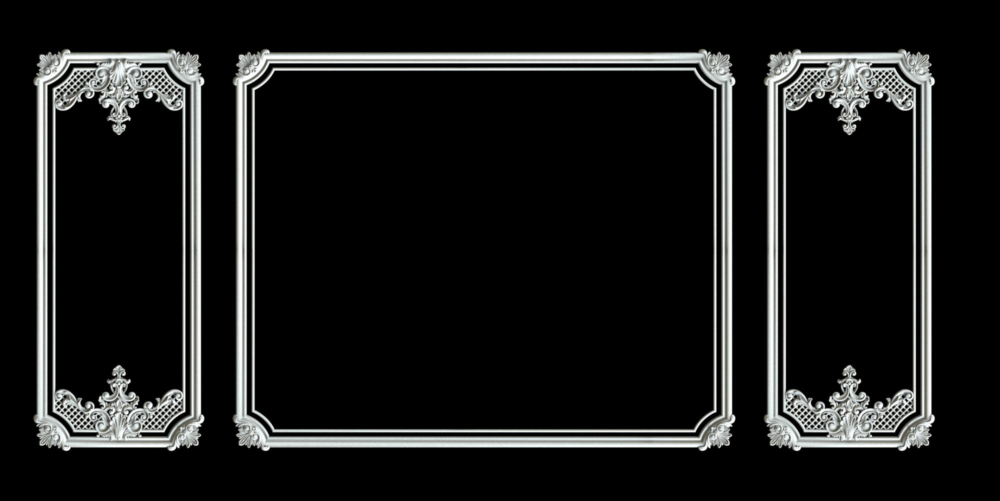 Гипсовый декор Д141 и Д140 Гипсовая лепнина Аврора (Краснодар)