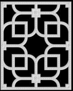гипсовая потолочная система Д153