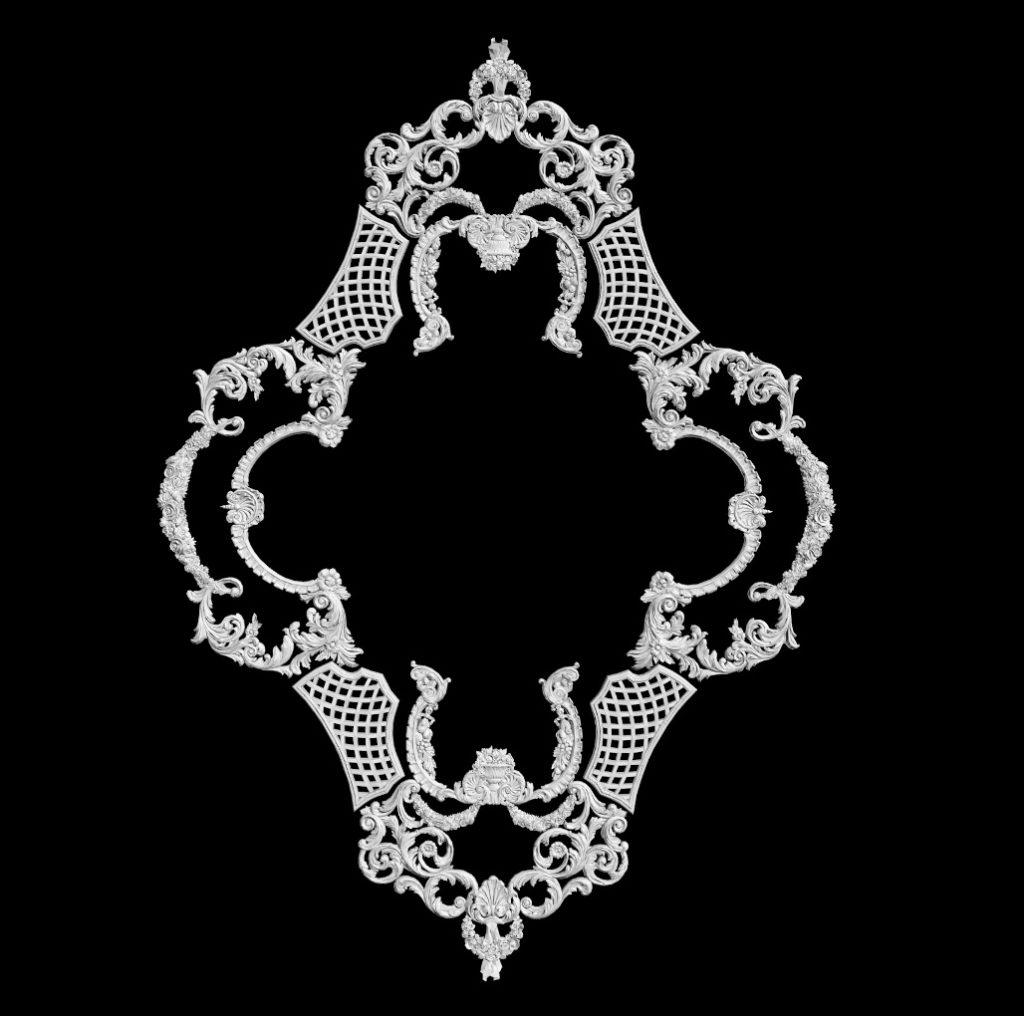 гипсовая розетка АП69 гипсовая лепнина Аврора