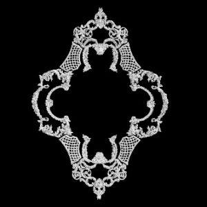 гипсовая розетка АП69
