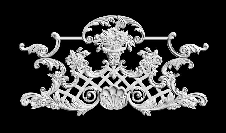 гипсовая лепнина: гипсовый декор Д119