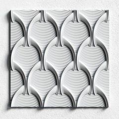 гипсовая 3d панель ванилла 11