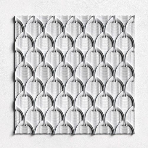 гипсовая 3D панель ванила