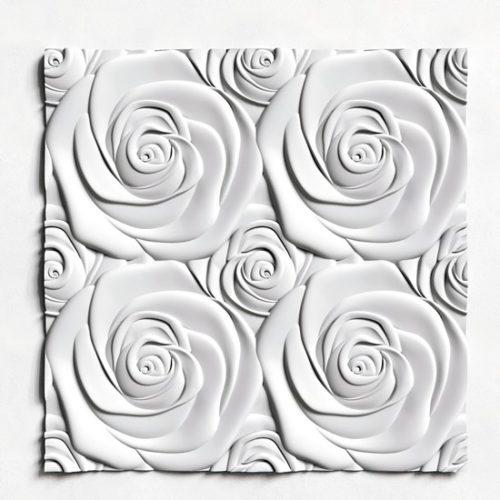 Гипсовая 3D панель Роза большая